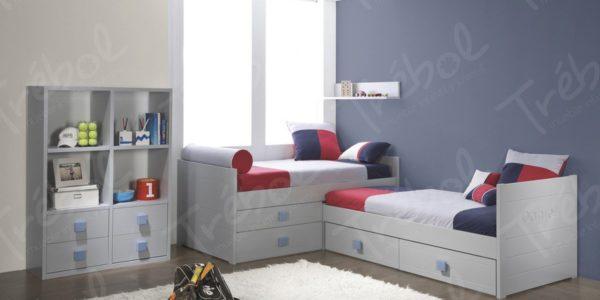 camas en forma de L , pesonalizadas