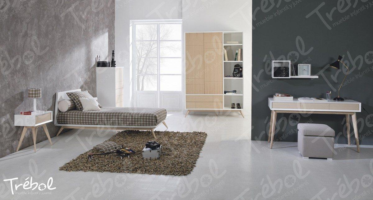 Mueble juvenil trebol mobiliario hd for Dormitorio juvenil estilo nordico