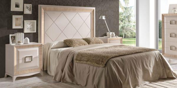 dormitorio eden , acabado natural con blanco