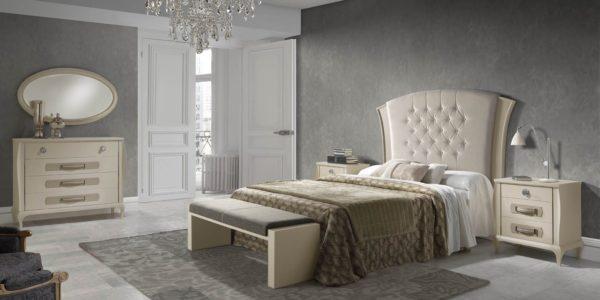 dormritorio cardiff arena , cabecero tapizado y detalles cava