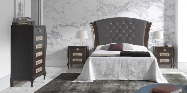 dormitorio cardiff color tabaco con detalles cava y molduras cava