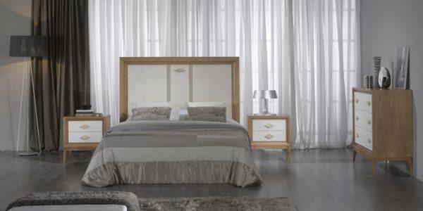 dormitorio freso poro abierto combinado color cerezo con blanco