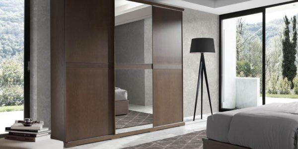 armario puertas correderas combinando puertas de espejo con puertas ciegas