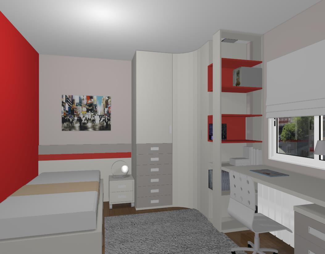 Proyecto 3d dormitorio juvenil mobiliario hd for Mobiliario dormitorio juvenil