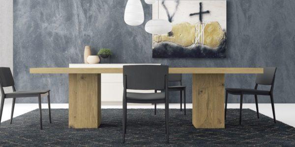 mesa comedor roble rustik