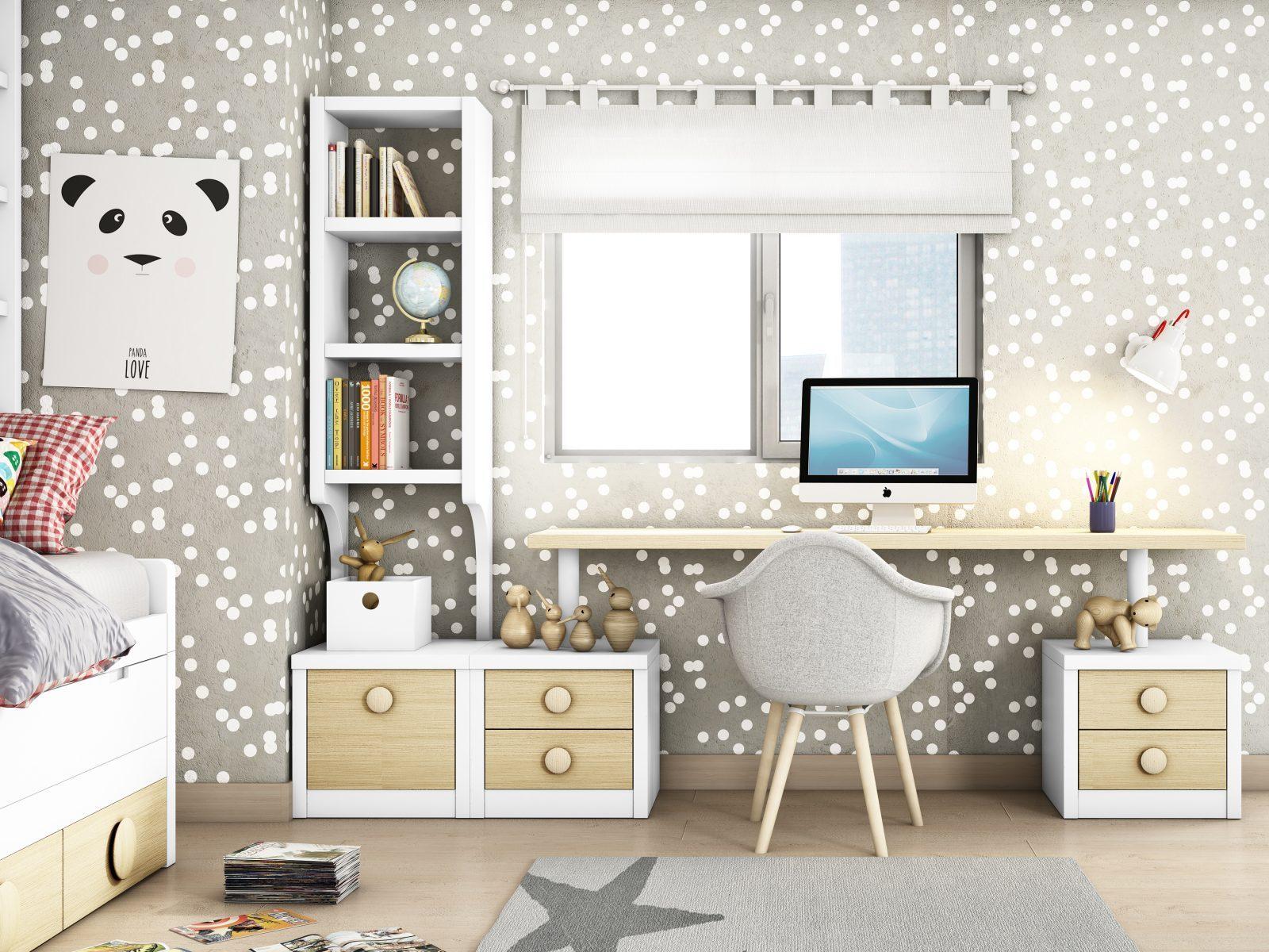 Dormitorio infantil pc kids mobiliario hd for Muebles habitacion infantil