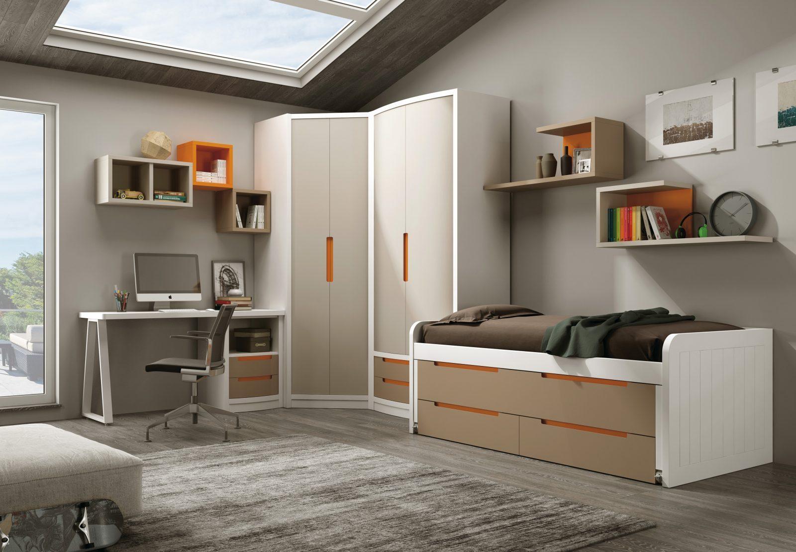Dormitorio juvenil infantil sugar mobiliario hd for Mobiliario dormitorio juvenil
