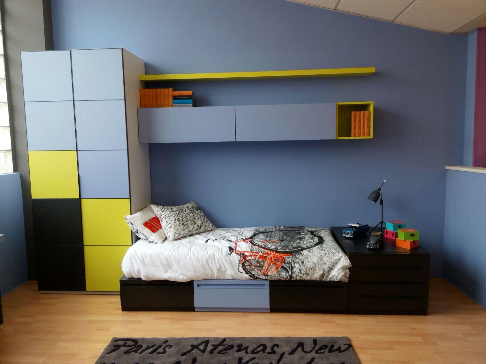 cama cubo con armario
