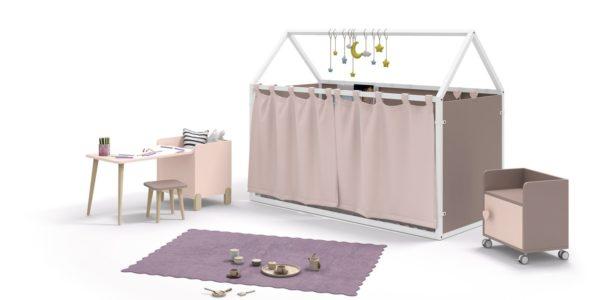 casita nido detalle cortinas echadas