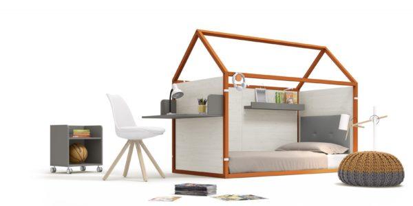 casita nido mesa estudio madera y calabaza