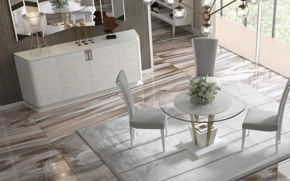 Salon comedor ambito mesa redonda de comedor de crsital - Salon comedor con mesa redonda ...
